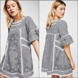 Free People Dresses - NWT $148 FREE PEOPLE Sunny Day Embroidered Dress